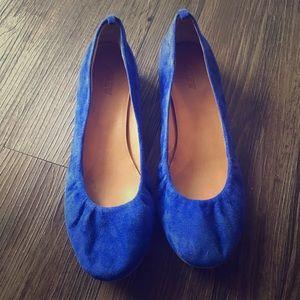 J Crew Blue Suede Ballet Flats 8